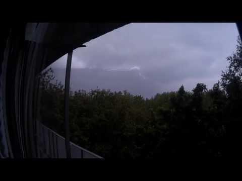 Молния в Нижнем Новгороде 24 мая 2015