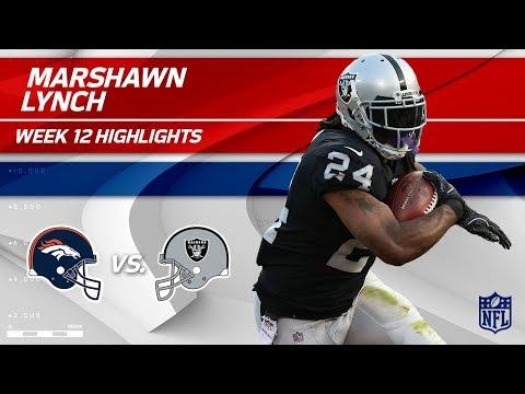 Video: Marshawn Lynch's 111 Total Yards & 1 TD vs. Denver! | Broncos vs. Raiders | Wk 12 Player Highlights