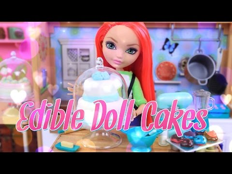 DIY - How to Make: Edible Doll Cakes - Doll Food Crafts - Marshmallow Fondant - Edible Playdough  4K (видео)