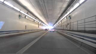 Norfolk (VA) United States  city photos : Driving in USA - Hampton Roads Bridge Underwater Tunnel, Norfolk Virginia