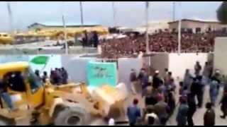 فديو منع الزوار الايرانيين من دخول منفذ زرباطية بدون تأشيرة دخول