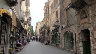 Taormina Italy  city photos : STREETS of TAORMINA, SICILY ITALY with ANCIENT THEATRE
