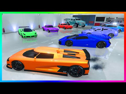 MrBossFTW Ultimate GTA Online Garage Tour! - 3 Full Garages W/ Millions of Dollars in Cars! (GTA 5)