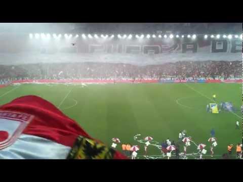 Santa Fe Campeón 2012-1 (4/8) Salida - Himnos - Bandera (HD) - La Guardia Albi Roja Sur - Independiente Santa Fe
