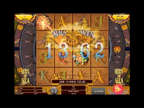 Genesis Gaming Gods of Giza Mobile Slot - Big Win