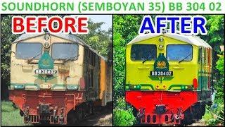 Video UNIK!! Perubahan Bunyi Soundhorn Loko BB 30402 (Semboyan 35) MP3, 3GP, MP4, WEBM, AVI, FLV Juli 2018
