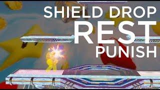 Marth UpTilt Shield Drop Rest Punish