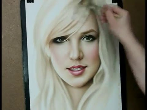 painting - Speed painting portrait Britney Spears. How to draw in this medium, http://www.art-portrets.ru/how-to-dry-brush.html, a little history http://art-portrets.ru...
