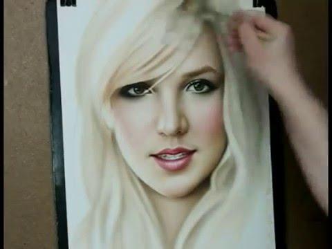 Dry Brush Portrait Painting Technique