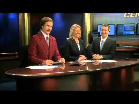 Anchorman Ron Burgandy shows up on Local TV News!