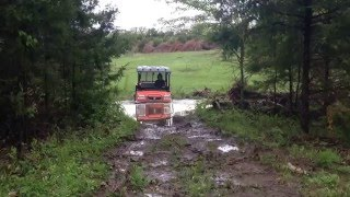 7. Flood run on Kubota Rtv900