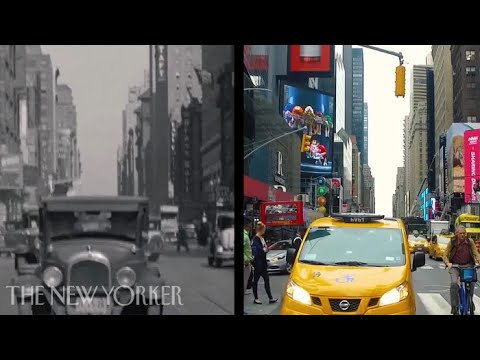 A Side By Side Tour of the Same Streets in New York City Using Footage From the 1930s and