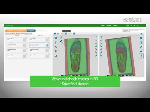 Voxelcare Insole Orthotic CAD design system