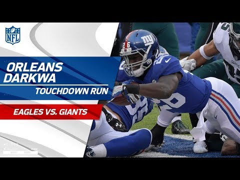 Video: Orleans Darkwa's Strong TD Blast Caps Off NY Opening Drive! | Eagles vs. Giants | NFL Wk 15