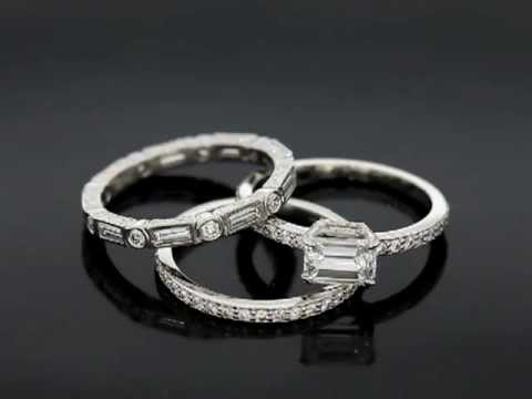 G.C.'s Delicate Platinum Wedding Set