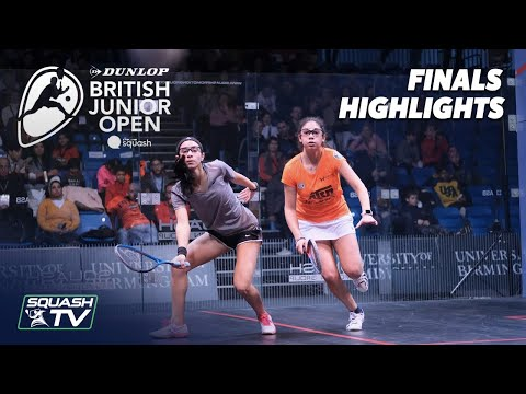 Squash: Dunlop British Junior Open 2020 - U11, U13 & U15 Finals Highlights