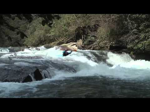 Whitewater Creeking in Western North Carolina with Girls at Play