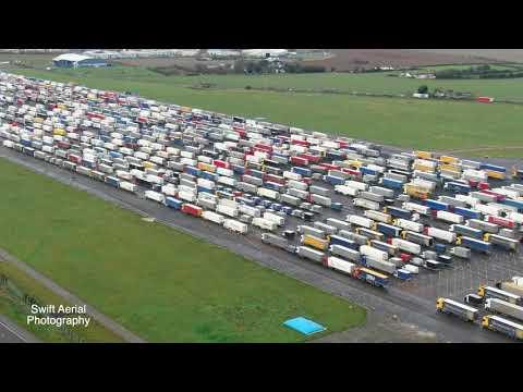 Ciężarówki w Manston zamknięcie granicy francuskiej