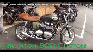 6. Triumph Thruxton 900 Review MotoVas British Customs Slip-On Sound Cafe Racer Chicago