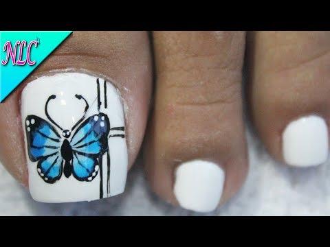 Diseños de uñas - DISEÑO DE UÑAS MARIPOSA PARA PRINCIPIANTES ¡MUY FÁCIL! - BUTTERFLY NAIL ART - NLC