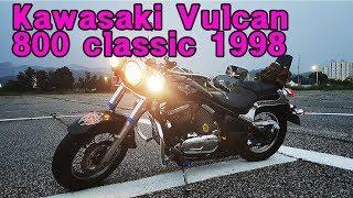 6. 가와사키 발칸800  �래� Kawasaki Vulcan 800 Classic 1998 specs & Engine sound