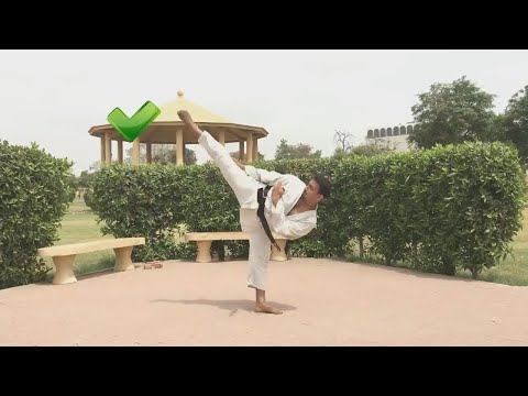 How To Do Mawashi Geri Or Roundhouse Kick | Karate Tutorials In Urdu\hindi