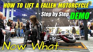 9. How to lift a fallen Motorcycle - Demonstration at Harley-Davidson Stand at 2013 NY Motorcycle Show