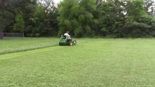 """These short clips are from comparing cut and discharge of the John Deere 930 M with 60"""" deck and 25.5 Kawasaki engine to my..."""
