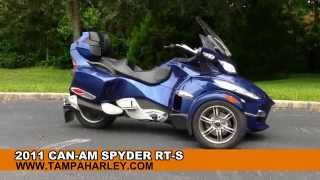 10. Used 2011 Can-Am Spyder RT-S  - 3 wheel motorcycle for sale