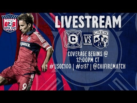 Chicago Fire - Live Stream of the fourth round Lamar Hunt U.S. Open Cup match between the Chicago Fire and Columbus Crew LIVE at 7:30pm CT from Toyota Park.