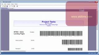 Print barcode labels for selected project