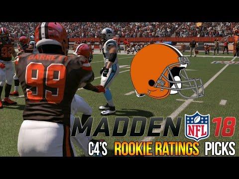 Madden 18 Rookie Ratings | Cleveland Browns | Myles Garrett, OJ + DeShone Kizer | C4's Roster