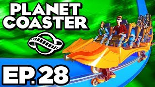 Planet Coaster Ep.28 - • BUILDING INVERTED ROLLERCOASTER, HAUNTED FIRST AID! (Gameplay Let's Play)