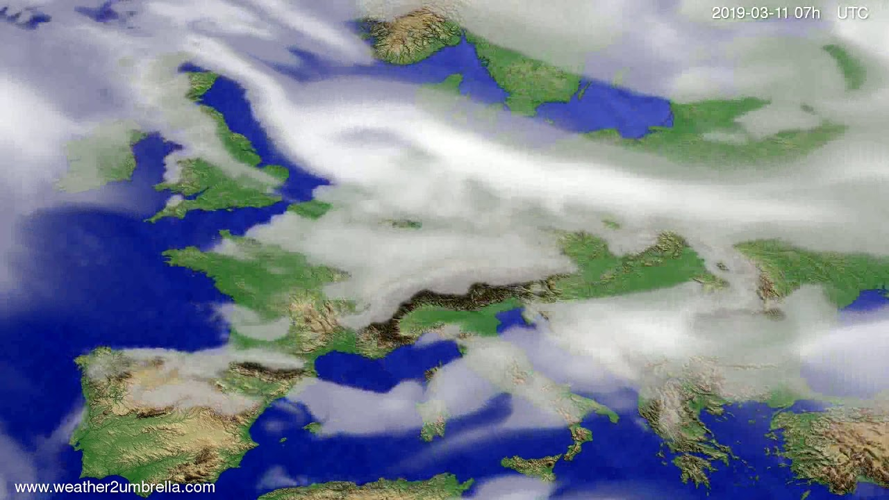 #Weather_Forecast// Cloud forecast Europe 2019-03-09