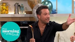 Video Gino Sets Fire to a Wooden Spoon While Showing How to Make an Italian Carbonara | This Morning MP3, 3GP, MP4, WEBM, AVI, FLV Mei 2019