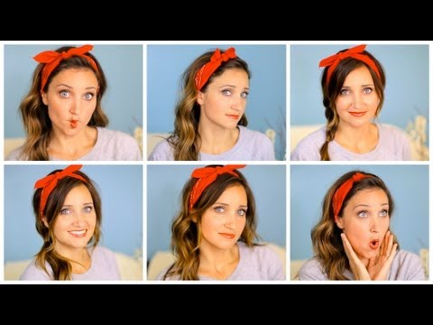 Six DIY 1-Minute Bandana Hairstyles | Cute Girls Hairstyles