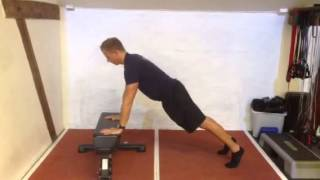 Exercise Index: Plyometric pushups from bench