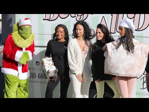 Christina Milian Makes A Special Beignet Box Delivery To Kylie Jenner's House