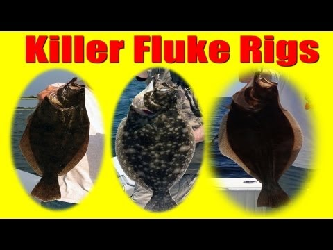 FLUKE Fishing HOW TO Tie KILLER FLUKE RIGS / Summer Flounder Rigs JUMBO Fluke Catchers