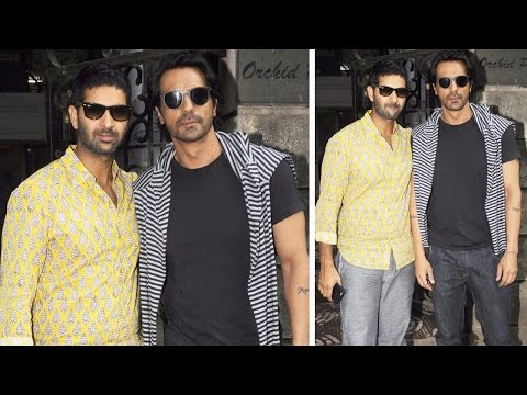 Arjun Rampal And Purab Kohli Spotted Promoting Roc