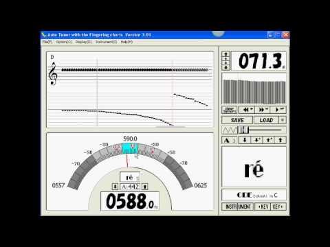 Accordeur chromatique - pour instruments à vent