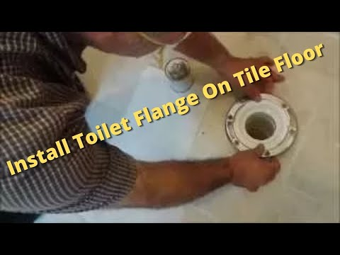 How to install a toilet on tile floor