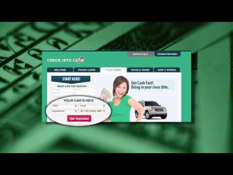 Check Into Cash Auto Loan Appraisal