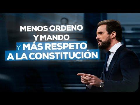 Menos ordeno y mando y más respeto a la Constitución