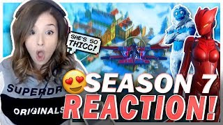 Poki's NEW CRUSH?! Reacting to Season 7 Fortnite!