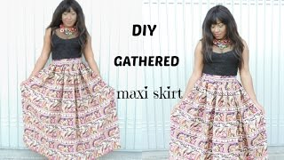Video SEWING : DIY GATHERED MAXI SKIRT download in MP3, 3GP, MP4, WEBM, AVI, FLV January 2017
