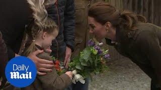 Kate Middleton admires girl's plaits on royal visit to Cumbria