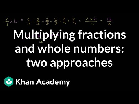 Multiplying Fractions And Whole Numbers Video Khan Academy