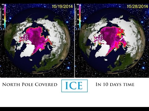 North - 8 days ago, I put out a video showing that the North Pole Ice pack was growing rather rapidly. After doing some mileage computations on the spread of the ice, I made the statement that the...