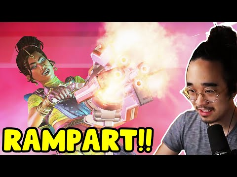*FIRST WIN* RAMPART IS HERE AND SHES AWESOME!! (New Legend - Apex Legends Season 6)